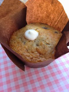 Muffin de frutos del bosque con yogurt