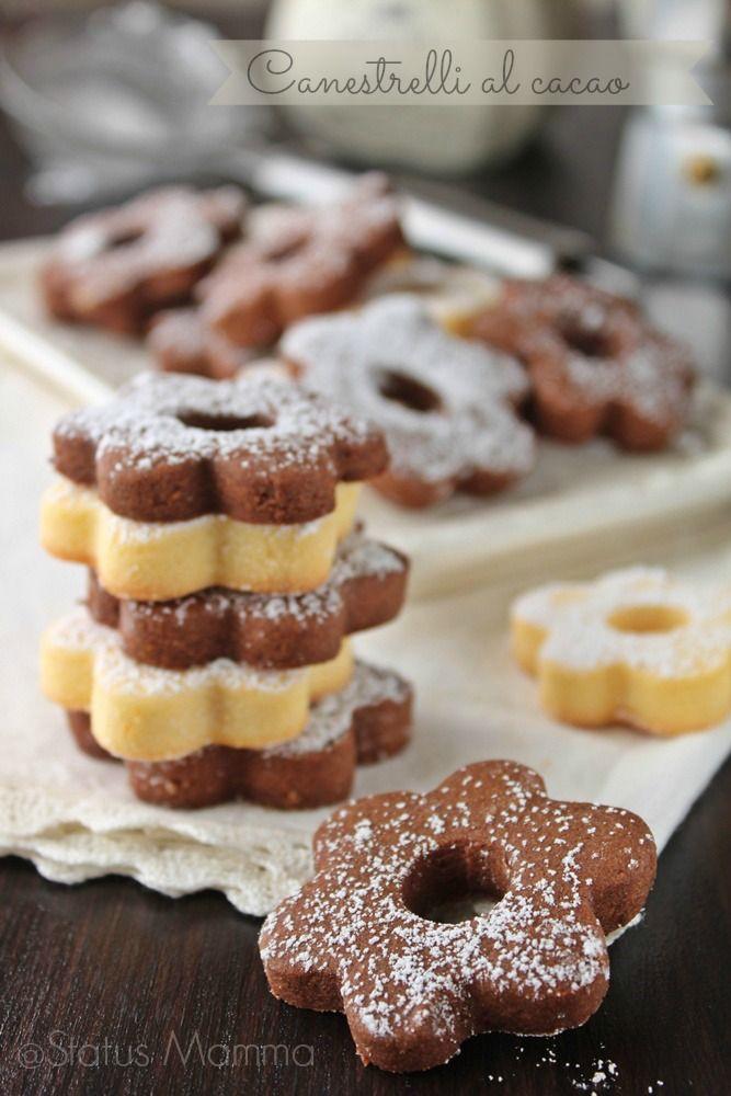 Canestrelli al cacao: ricetta di biscotti friabili al cacao con frolla ovis mollis, semplice ideale per colazione, merenda.