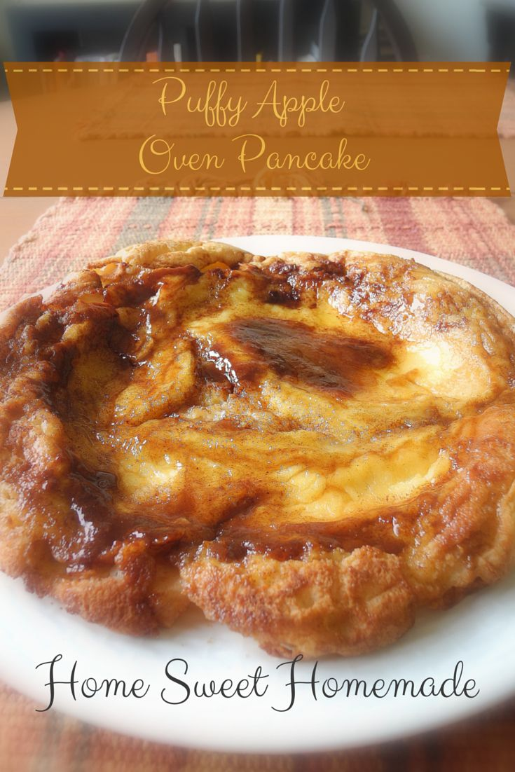 Puffy Apple Oven Pancake #apples
