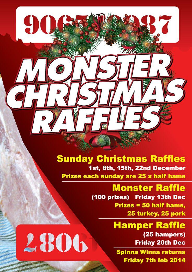 Christmas Raffles at Club Rose Bay! #pork #turkey #ham #hampers #raffles #win https://www.facebook.com/events/204300089753759/