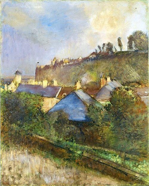 Edgar Degas -Maisons au pied d'une falaise, 1895–98 ۞۞۞۞۞۞۞۞۞۞۞۞۞۞ Gaby-Féerie : ses bijoux à thèmes ➜ http://www.alittlemarket.com/boutique/gaby_feerie-132444.html ۞۞۞۞۞۞۞۞۞۞۞۞۞۞