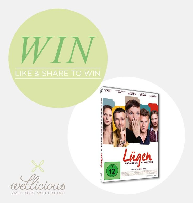 """WIN two DVDs of the German Yoga-movie """"LÜGEN UND ANDERE WAHRHEITEN""""  This charming movie tells the story of 6 individuals, one truth and thousand lies… LÜGEN UND ANDERE WAHRHEITEN In stores now!"""