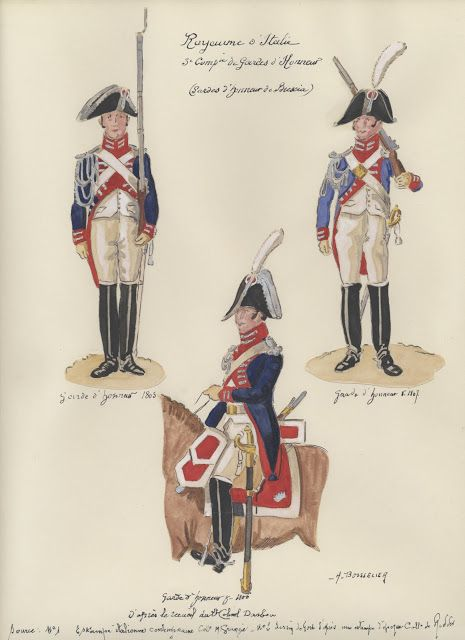 Guardie d'onore della terza compagnia di Brescia del regno d'Italia