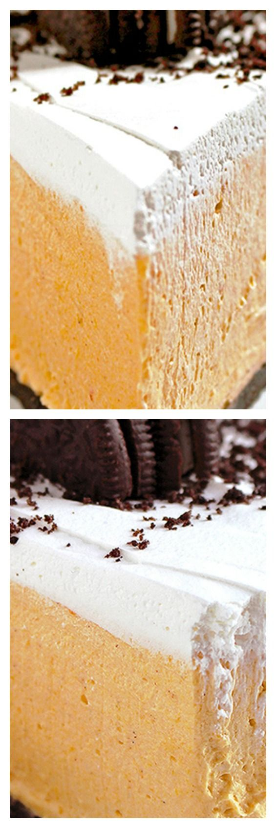 No Bake Pumpkin Oreo Cheesecake