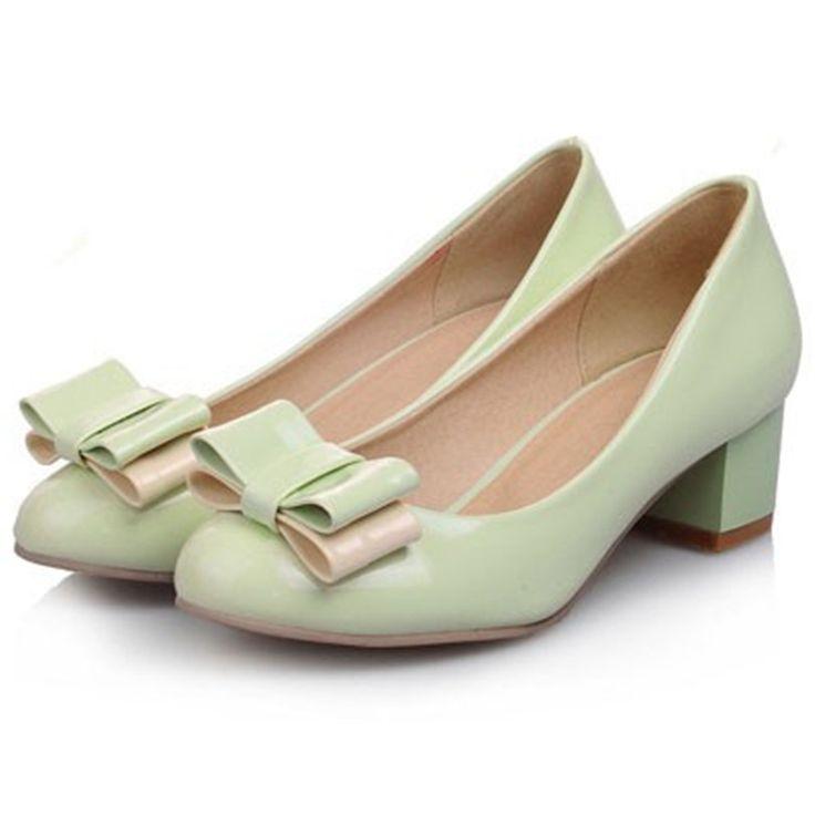 Новинка стиль круглым носком женщины туфли на высоком каблуке ну вечеринку туфли на высоком каблуке платформы лакированная кожа красный черный зеленый, Розовые свадебные туфли новый купить на AliExpress
