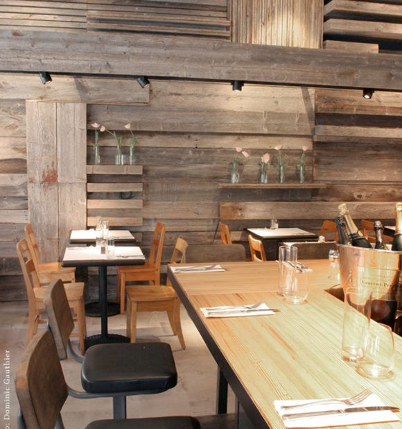 Reclaimed Wood Wall Designed By Louis Joseph Papineau At Les Enfants  Terribles