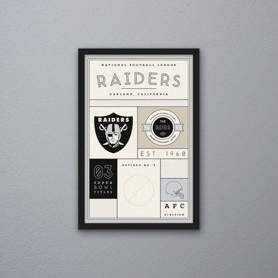 Oakland Raiders Stats Print by PortlySportsman on Etsy