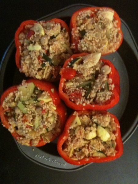 Couscous and Feta-Stuffed Peppers | Recipes to Try! | Pinterest