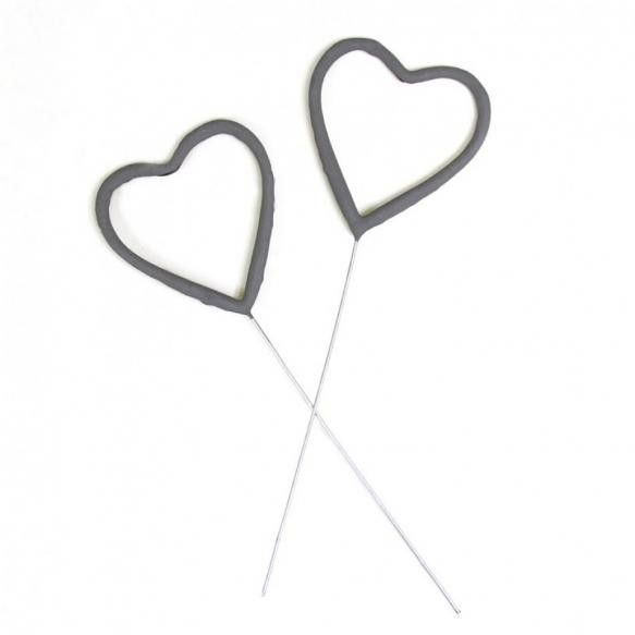 Heart Shaped Sparklers (Set of 6)