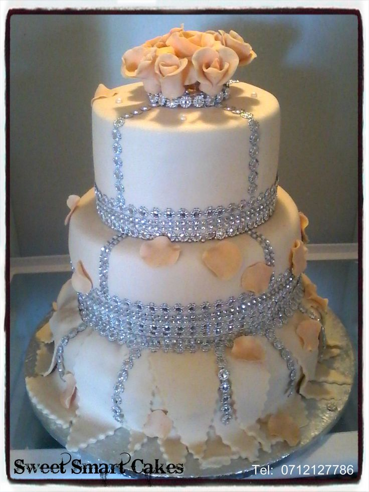 Bling Wedding Cake For more info & orders, email SweetArtBfn@gmail.com or call 0712127786 (BLOEMFONTEIN)