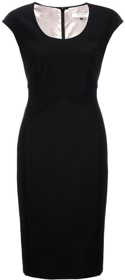 COLLECTION by John Lewis Panel Shift Dress, Black
