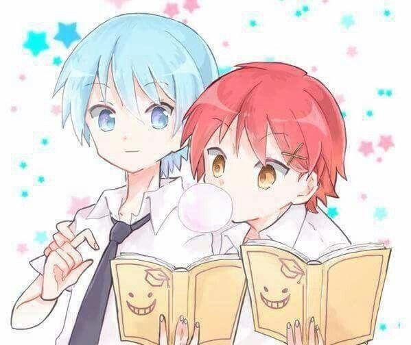 """Let me see yours too."" - DA | Carnage Pair | KaruNagi | KaruGisa | Karma Akabane x Nagisa Shiota | Assassination Classroom"