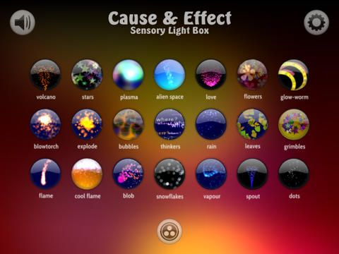 Cause and effect sensory light box.