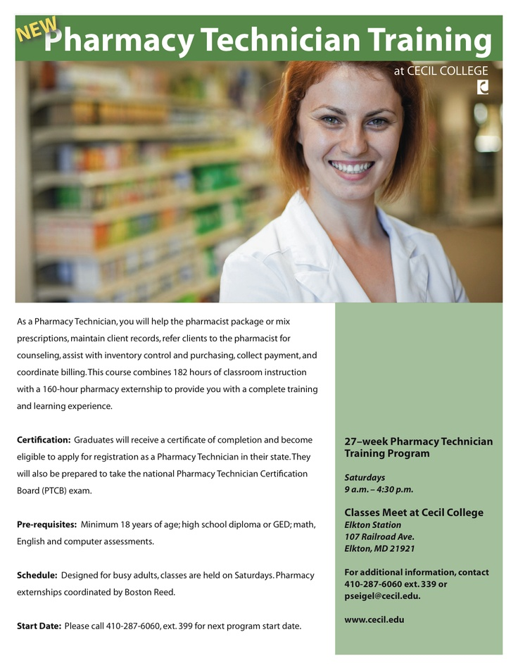 Pharmacy technician training give em their meds