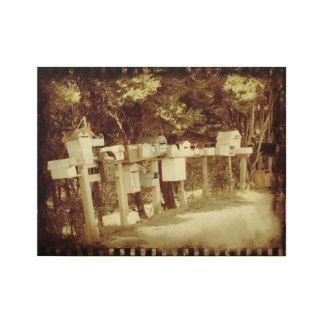 """""""Waiheke Island"""" - Waiheke Letter Boxes Wood Poster"""