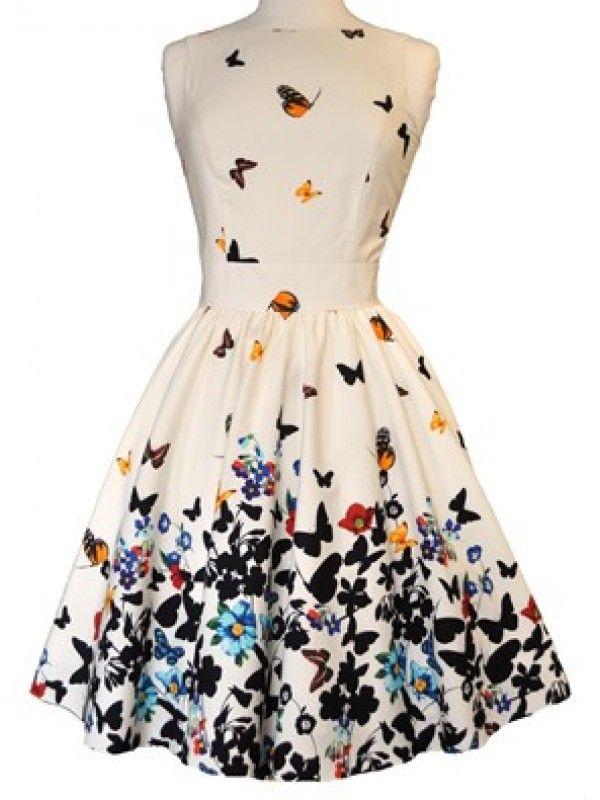Vintage Tea Dress - Butterfly ($129)