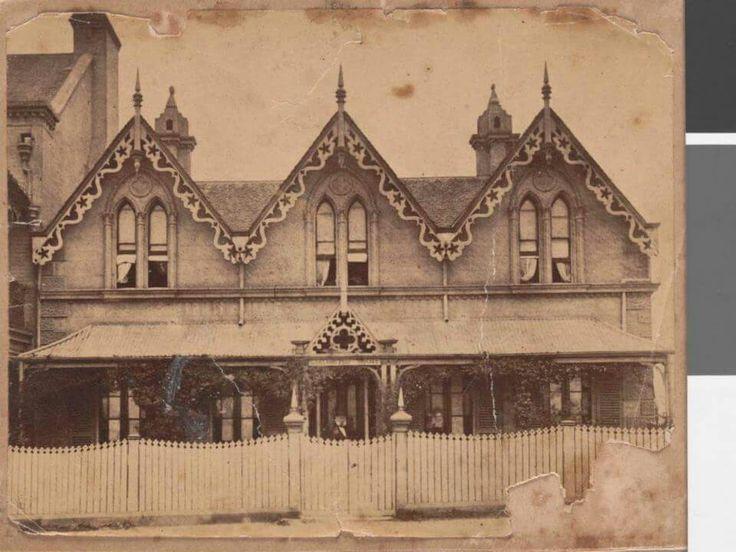 Darlington House,Newtown St,Darlington,inner suburb of Sydney in 1878.A♥W