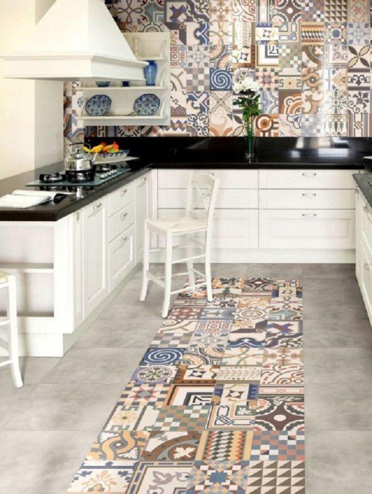 яркая плитка пол кухни - Поиск в Google