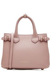 Small Banner Leather Tote