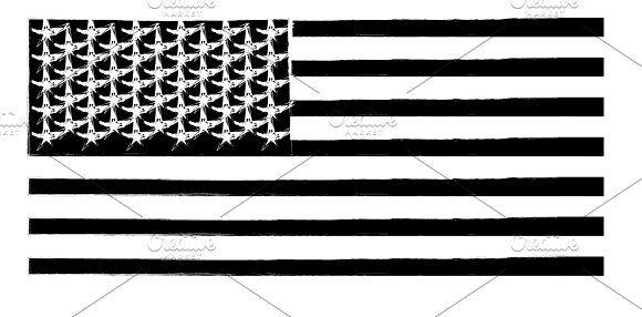 Usa Flag American Flag Vector Art By Teagraphicdesign On Creativemarket Flag Vector Usa Flag Vector Art