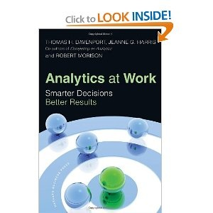 Davenport et al., Analytics at Work: Smarter Decisions, Better Results. Most companies have massive amounts of data at their disposal, yet fail to utilize it in any meaningful way. But a powerful new business tool - analytics - is enabling many firms to aggressively leverage their data in key business decisions and processes, with impressive results....