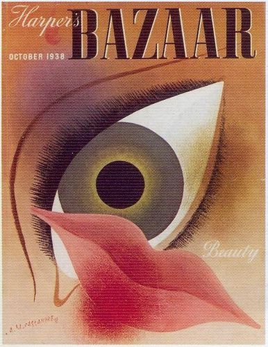cMag272 - Harper's Bazaar cover by Adolphe Mouron Cassandre / October 1938