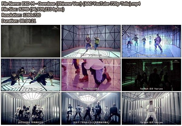 [Download MV] EXO-M Overdose (Chinese Ver.) [YouTube 720p]