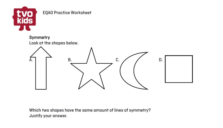 EQAO Math worksheet - Symmetry for Grade 6 Download here: http ...
