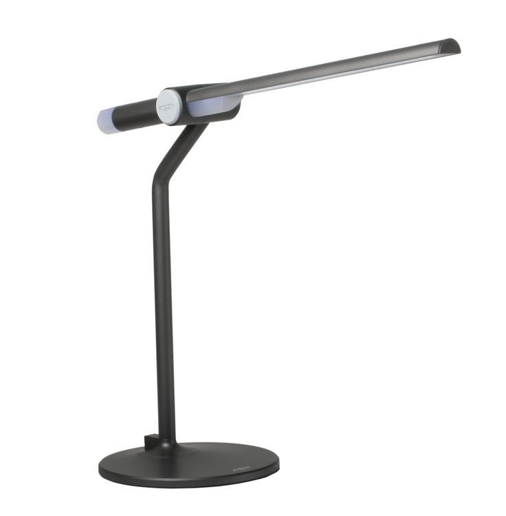 PRISM TL-8100GR Dimmable LED Desk Lamp with Anti-Glaring Filter, Grey. Energy Efficient 10W. LED Lit Knob Dimming Control System. 25 Years of Life Span Under Normal Use. Space Saving Design Folds into Night Light Mode. LG Lumiplas Technology brings Uniform Non-Glare Illumination.