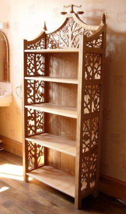 Carved Bookcase, so pretty!                                                                                                                                                                                 More