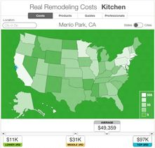 The Houzz Real Cost Finder presents data collected by Edge Research from the Houzz community, surfacing actual project costs from more than 100,000 homeowners. Home remodeling costs, kitchens, baths, etc.