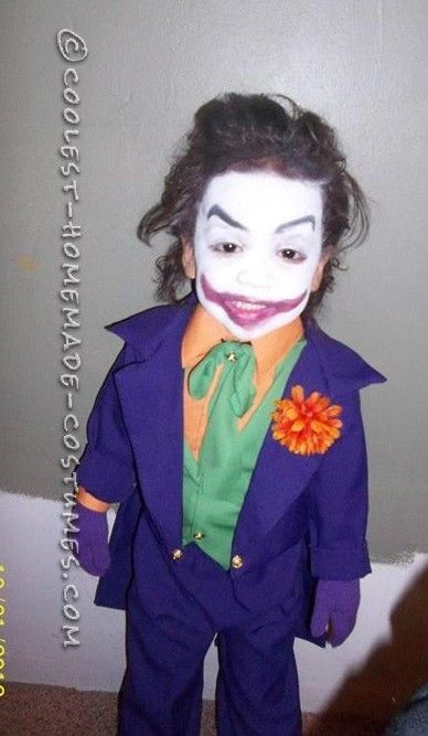 Coolest Old School Joker Costume for a Child  sc 1 st  Pinterest & 69 best Totes adorbs images on Pinterest | Funny things Makeup and ...