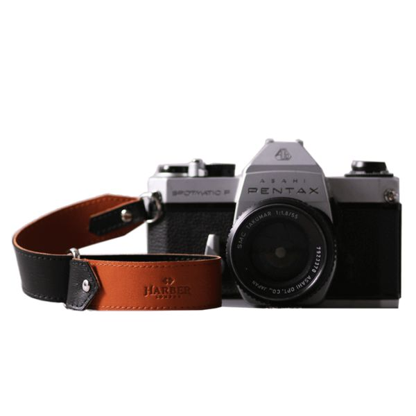 Leather Slide Camera Wrist Strap with easy to change end lugs and reversible colour. Handcrafted with premium leather. Our camera strap has the ends to be easily removable as the wrist straps must be. FREE UK Delivery
