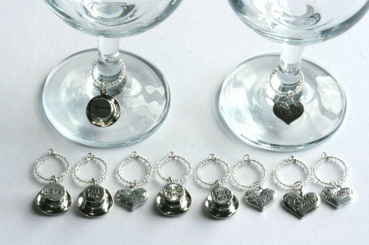 Wedding Favor Charms Tags : Glass Charms - wedding favour, wedding favor, hen do, party glass tags ...