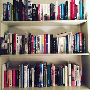 To-be-read bookshelves