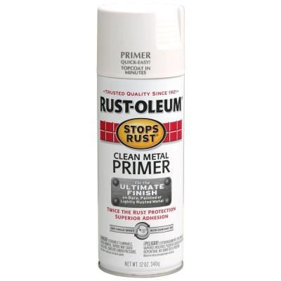 Rust-Oleum Stops Rust 12-oz. Stops Rust Clean Metal Primer Spray Paint-7780830 at The Home Depot (TO SPRAY ON METAL - LEONORA)