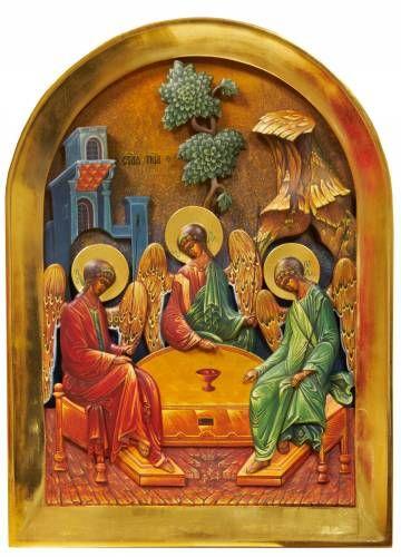 Картины (живопись) : 3 Д Картина Деревянная скульптура Святая Троица