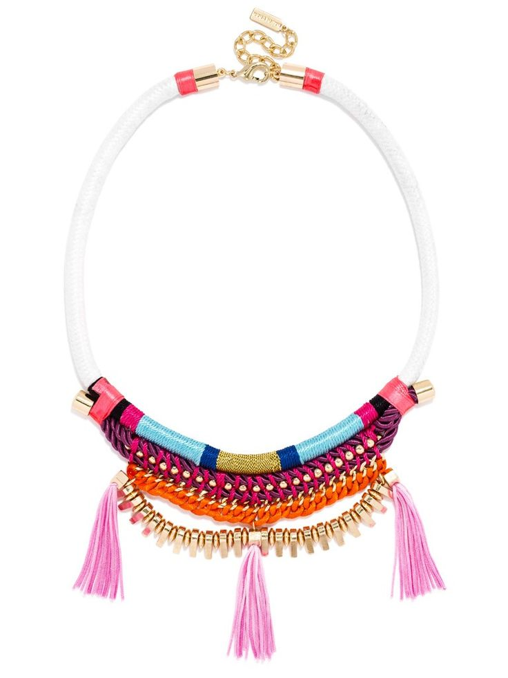 Fun corded necklace with tassels