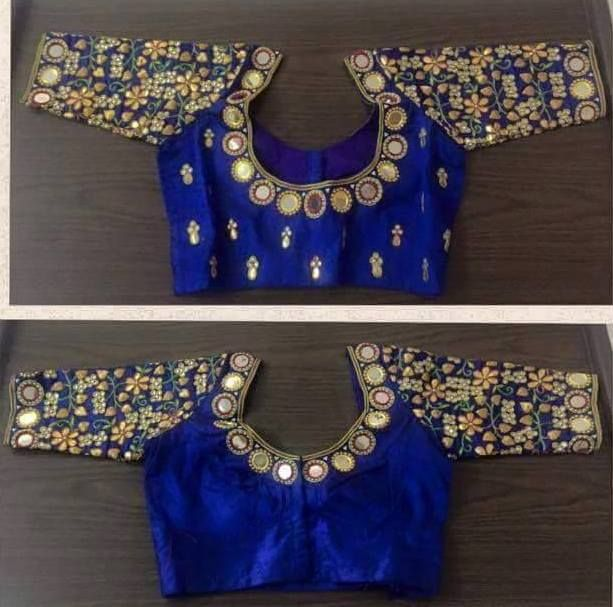 Elbow Length Mirror Blouse - Saree Blouse Patterns