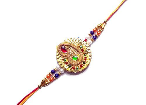 Gold Plated Rakhi with Handmade Work by D9 Creation D9 Cr... http://www.amazon.in/dp/B073ZK5KC1/ref=cm_sw_r_pi_dp_x_21xBzbMQ827PA