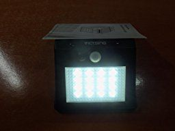 pack luces solares led de pared con sensor movimiento de victsing