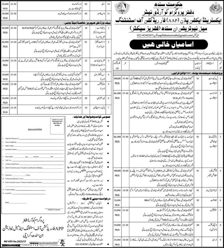Latest Jobs in Livestock & Fisheries Department Government of Sindh