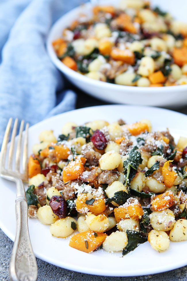 There are lots of fabulous fall flavors going on and the colors are beautiful too! Fall comfort food at it's finest…and easiest! Our boys love this Butternut Squash, Sausage, and...
