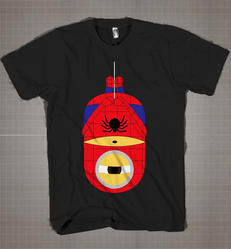 SPIDERMAN MINION Parody  Mens and Women T-Shirt Available Color Black And White
