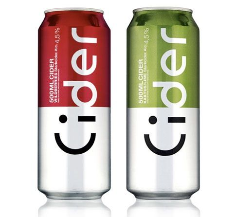 Smile Cider packaging by Amore.