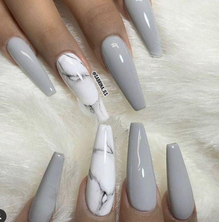 gray nails ideas