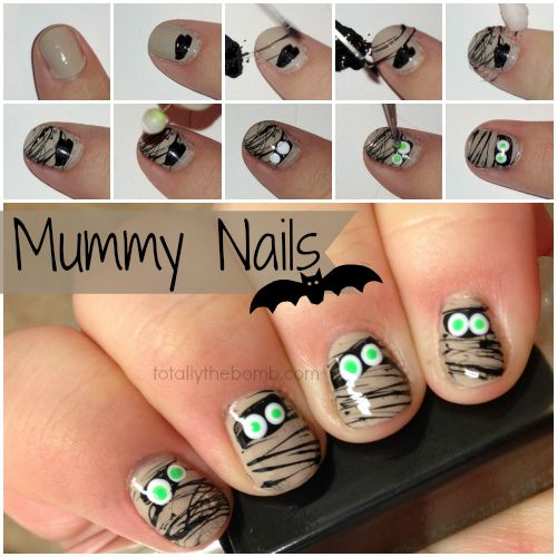 These mummy nails are pretty much my favorite halloween nails I've ever painted. Like, ever. Happy Haunting!