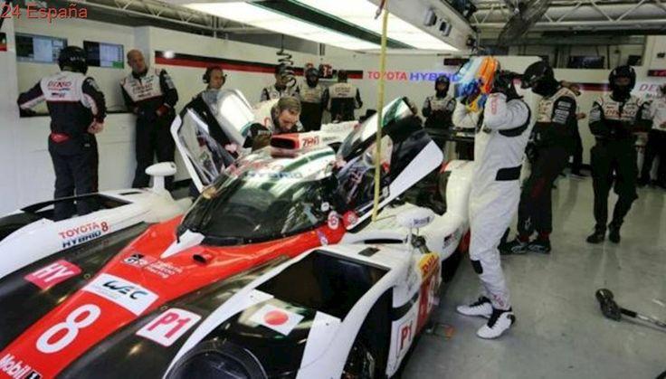Alonso, entusiasmado tras probar el Toyota: «Estoy feliz»