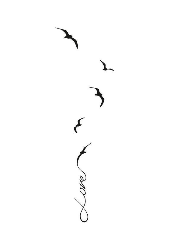 """Best Tiny Tattoo Idea - Instead of """"love"""" I want it to say """"Soon...."""" and a bird for..."""
