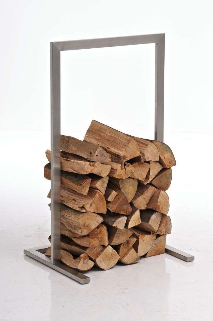 CLP exklusiver Edelstahl Kaminholzständer, rostfreie & robust, bis zu 6 Größen wählbar silber 40x100: Amazon.de: Küche & Haushalt